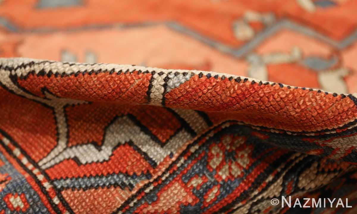 large antique serapi persian rug 49332 pile Nazmiyal