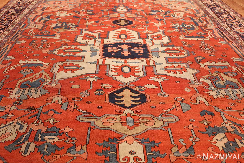 large antique serapi persian rug 49332 side Nazmiyal