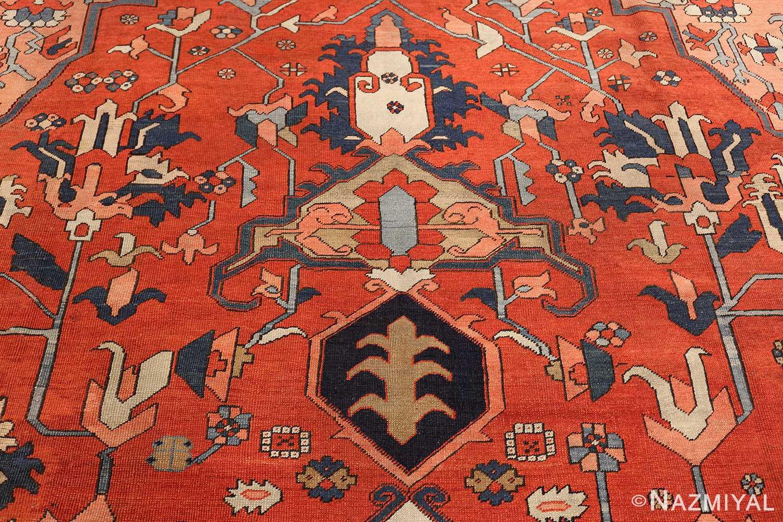 large antique serapi persian rug 49332 tiara Nazmiyal