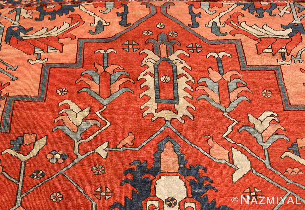 large antique serapi persian rug 49332 top Nazmiyal
