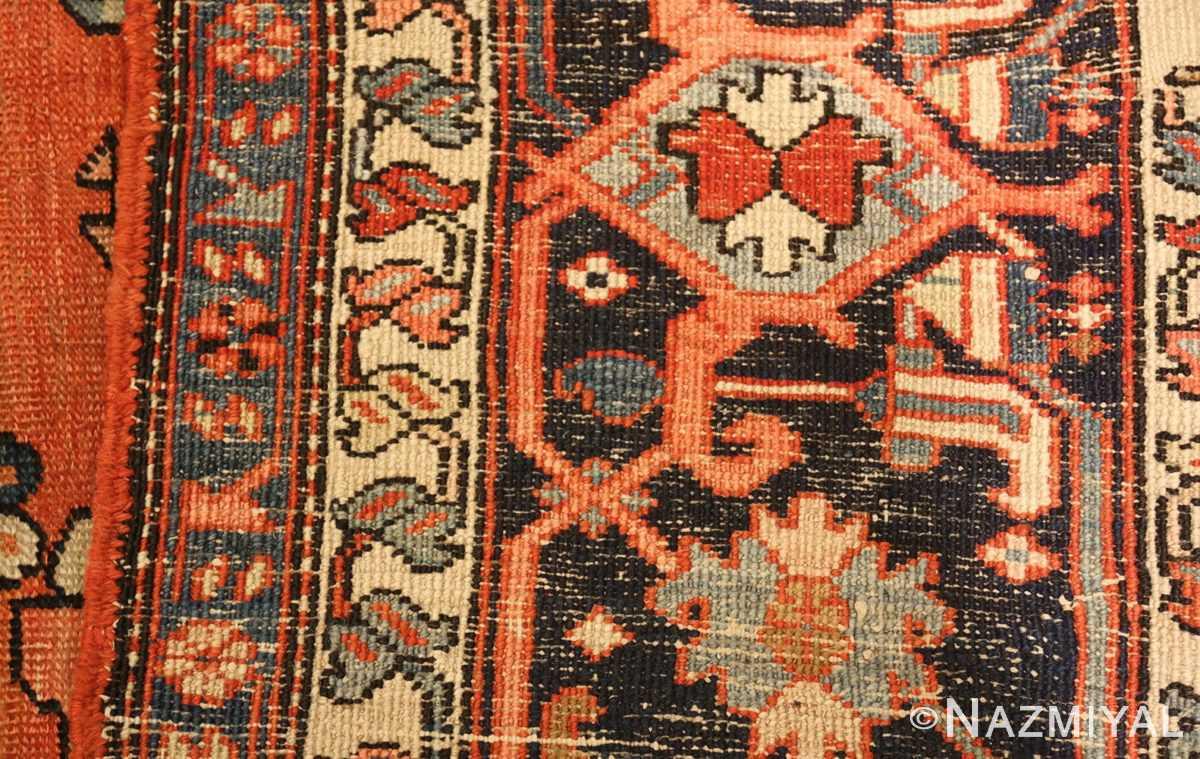 large antique serapi persian rug 49332 weave Nazmiyal