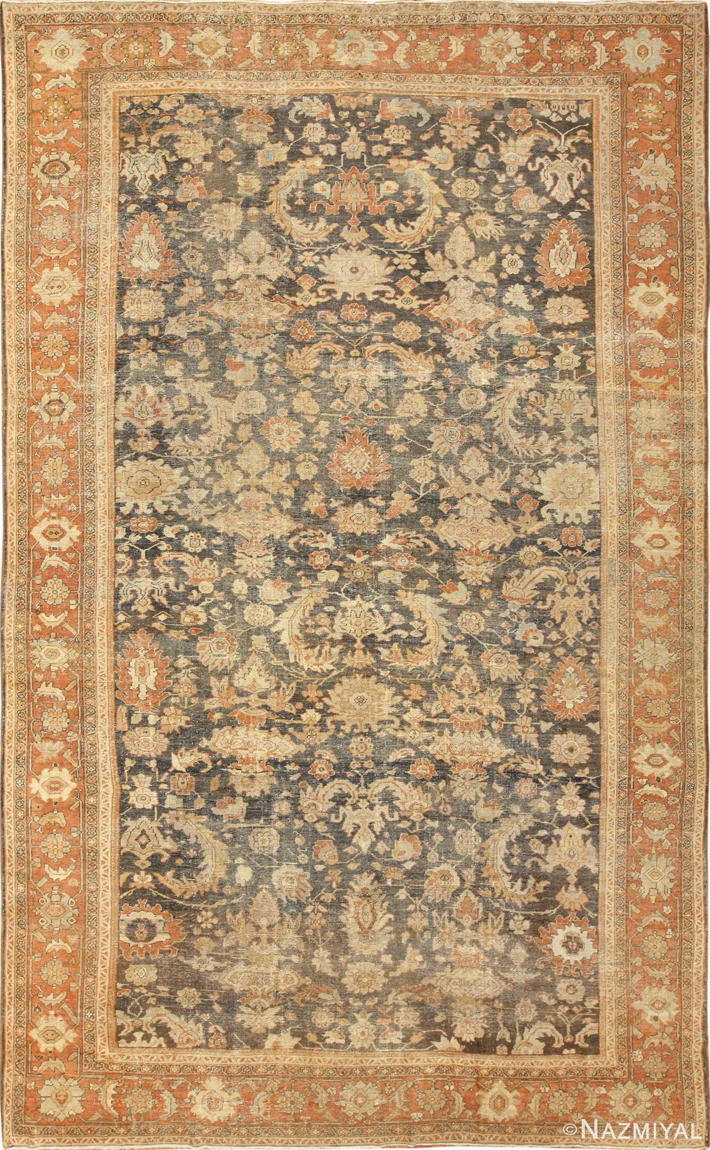 large antique sultanabad persian rug 49366 Nazmiyal