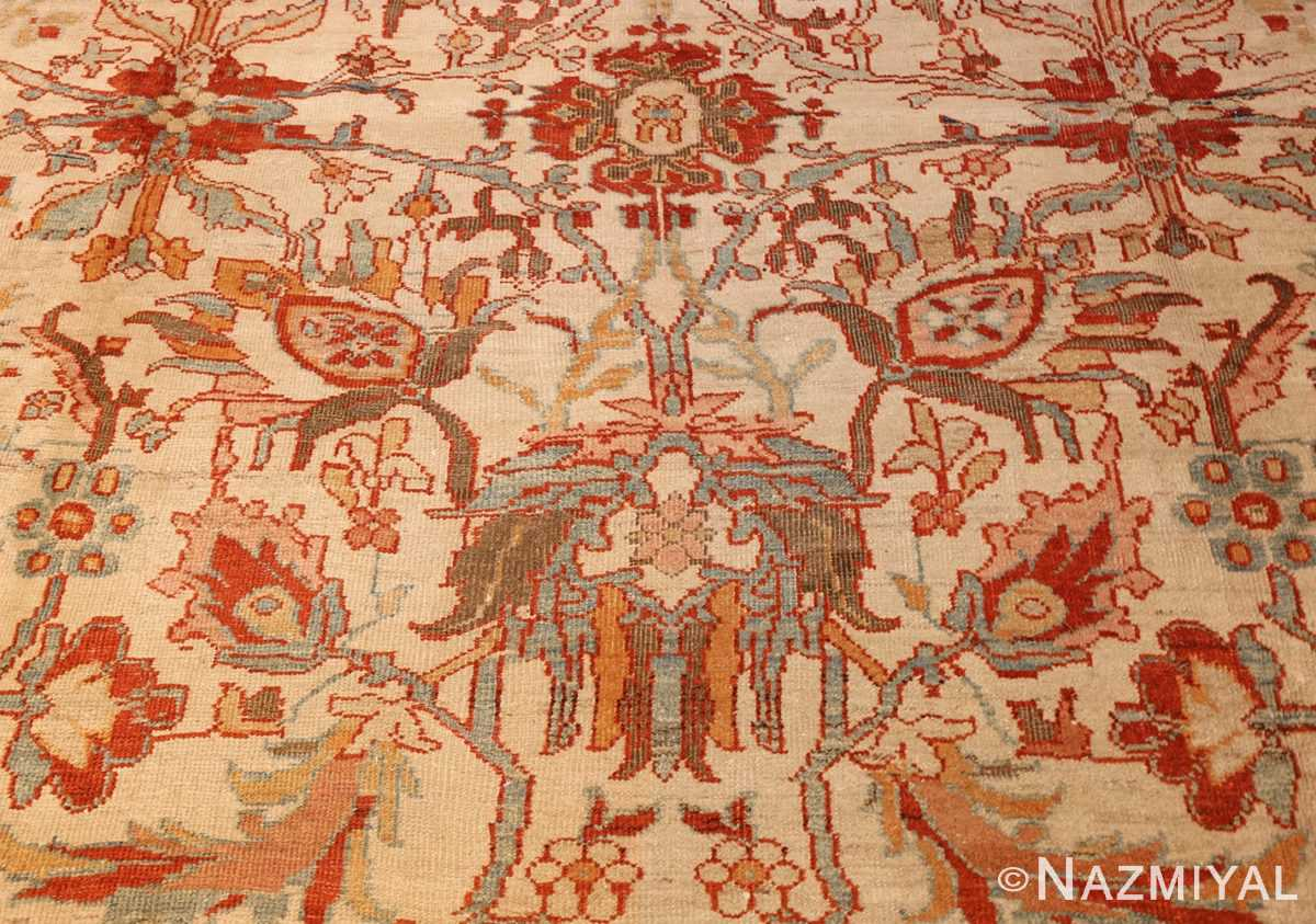 large antqiue ziegler sultanabad rug 49322 flowers Nazmiyal