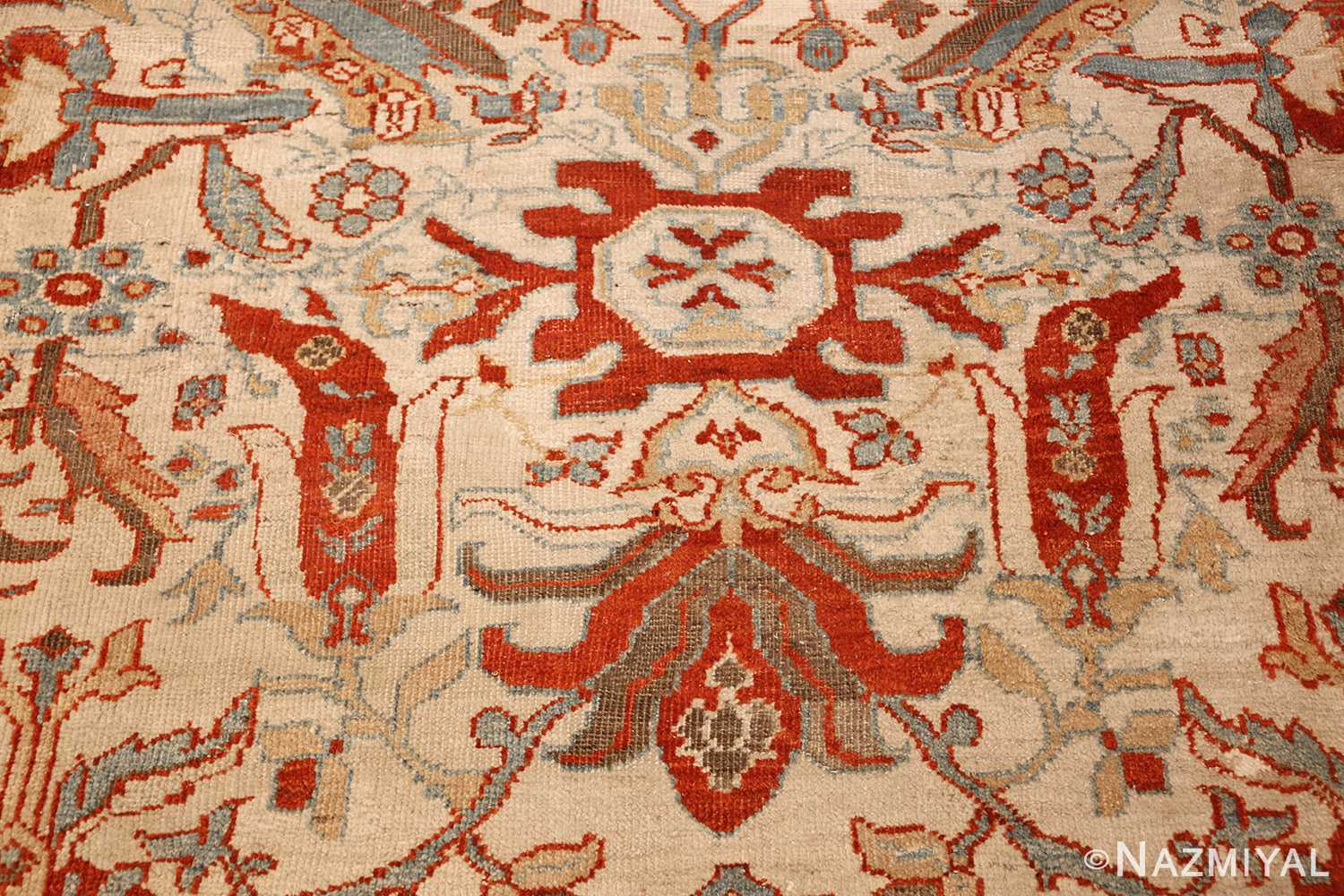 large antqiue ziegler sultanabad rug 49322 red Nazmiyal