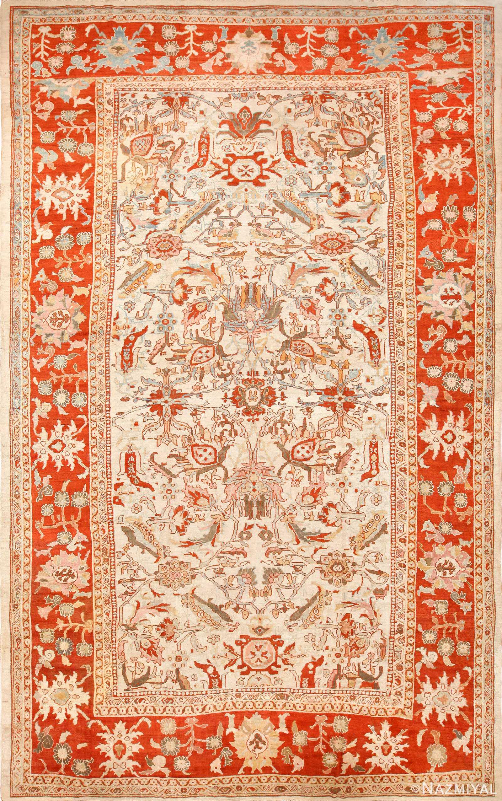 large antqiue ziegler sultanabad rug 49322 Nazmiyal