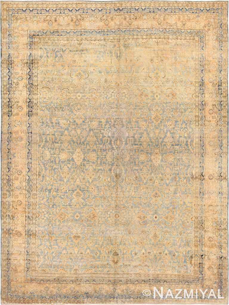 large blue antique kerman persian rug 49331 Nazmiyal