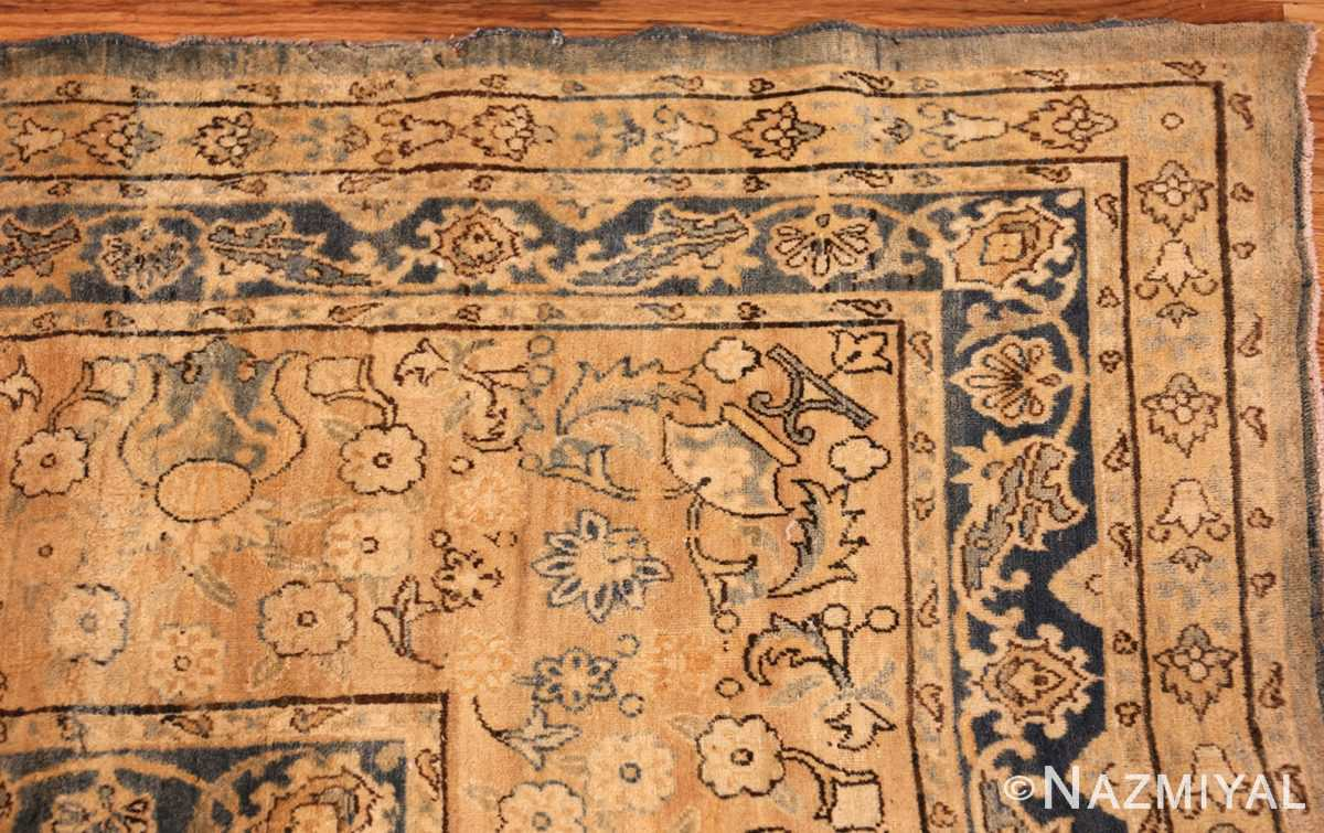 large blue antique kerman persian rug 49331 corner Nazmiyal