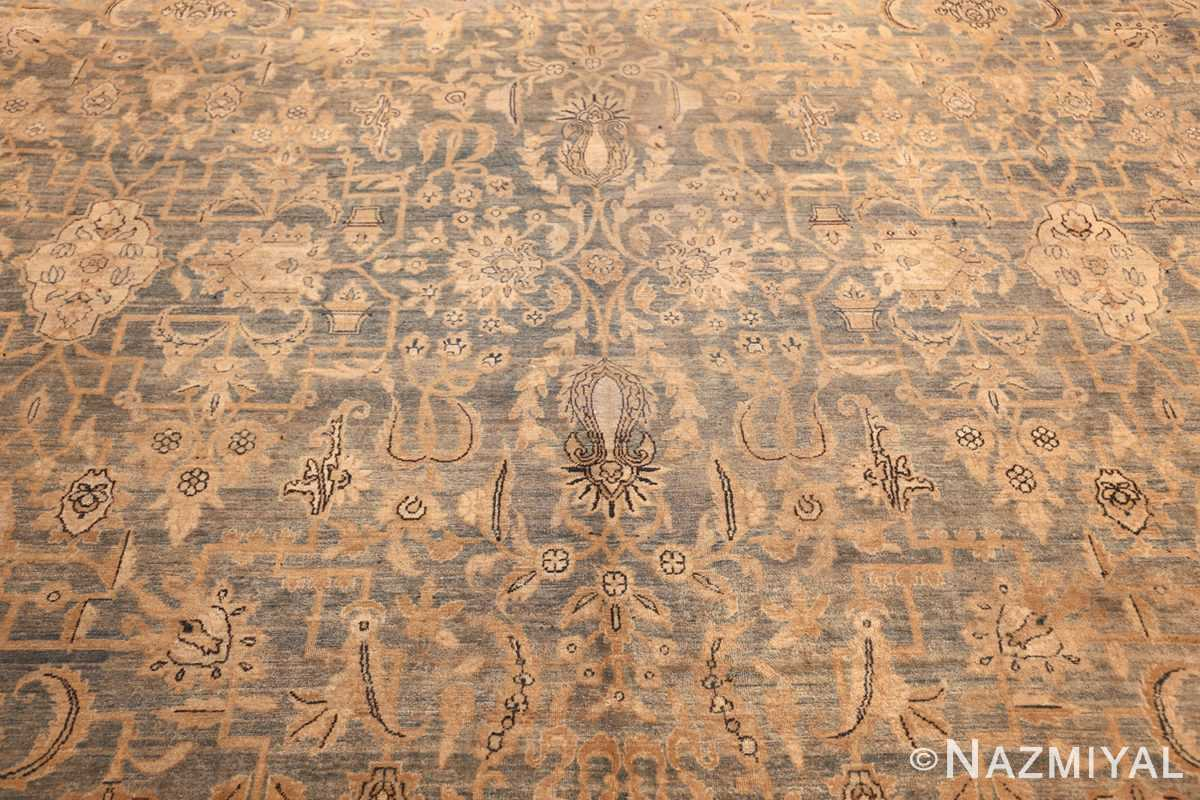large blue antique kerman persian rug 49331 field Nazmiyal