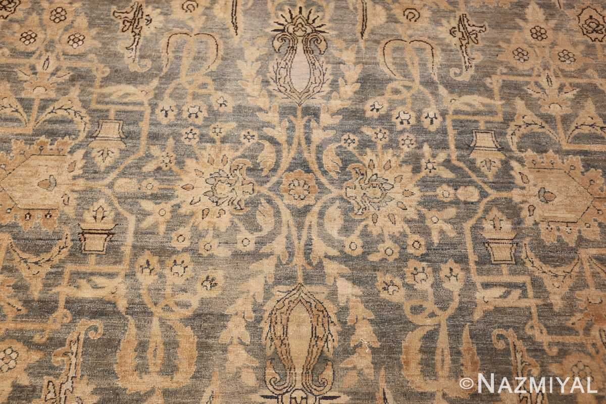 large blue antique kerman persian rug 49331 scroll Nazmiyal