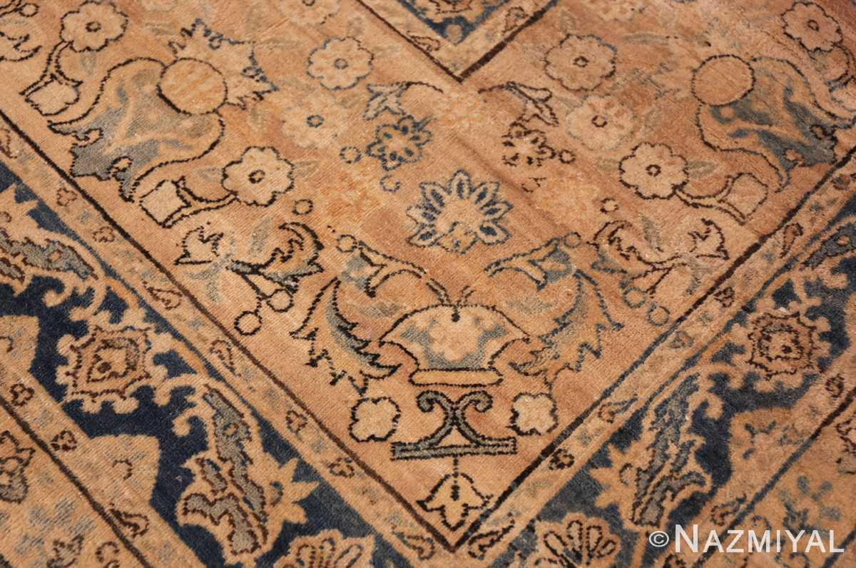 large blue antique kerman persian rug 49331 vase Nazmiyal