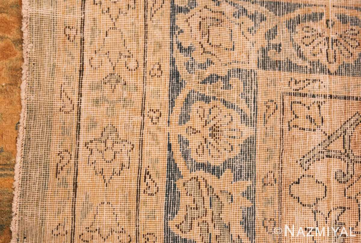 large blue antique kerman persian rug 49331 weave Nazmiyal