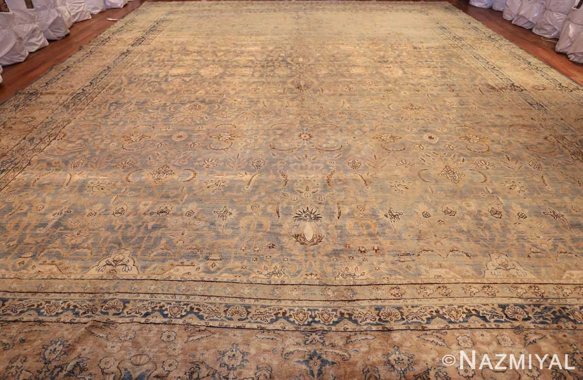 large blue antique kerman persian rug 49331 whole Nazmiyal