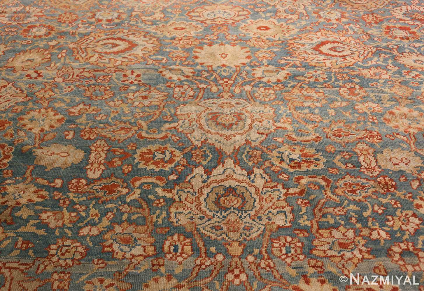 large blue antique sultanabad persian rug 49318 field Nazmiyal