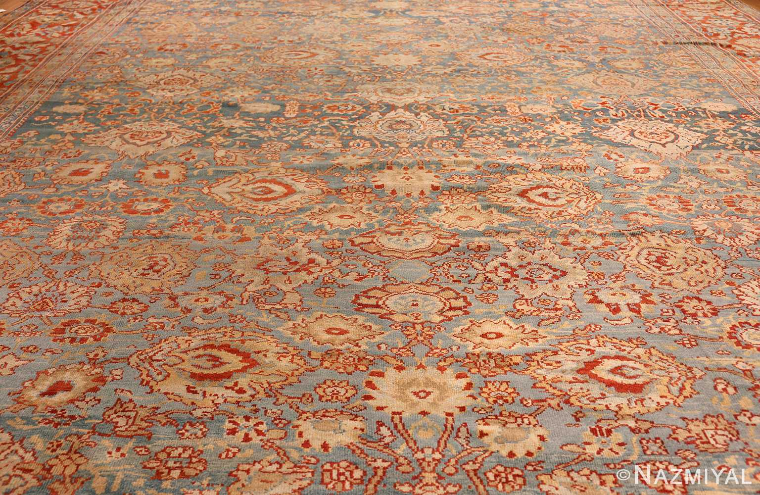 large blue antique sultanabad persian rug 49318 full Nazmiyal