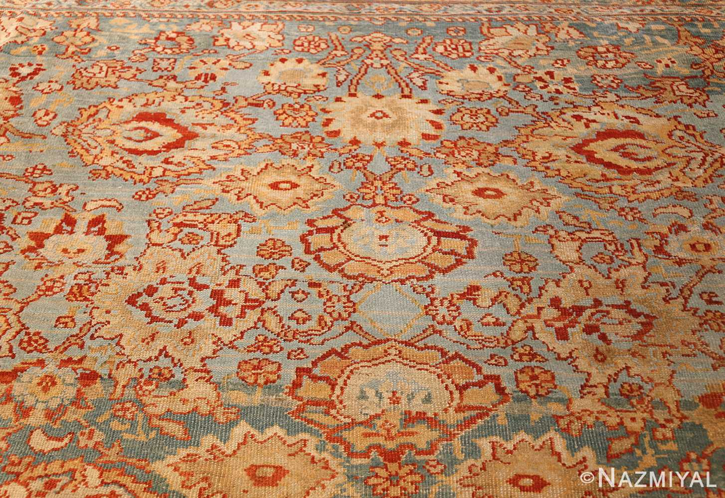 large blue antique sultanabad persian rug 49318 light Nazmiyal