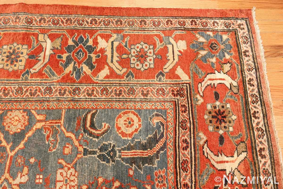 large blue background sultanabad persian rug 49300 corner Nazmiyal