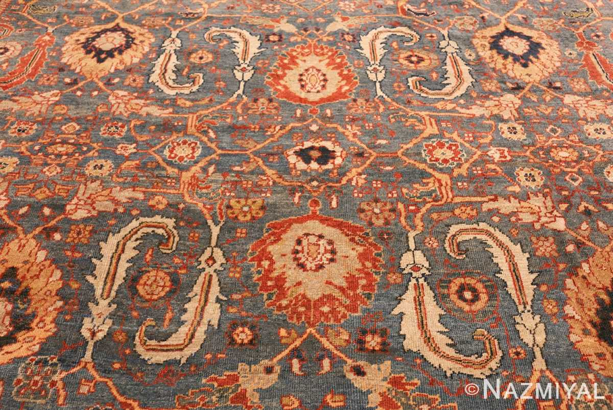 large blue background sultanabad persian rug 49300 full Nazmiyal