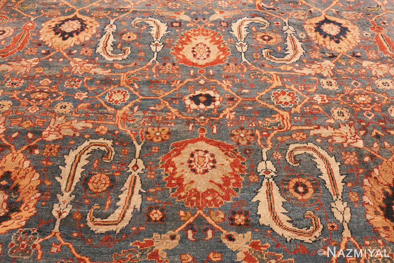 large blue background sultanabad persian rug 49300 full Nazmiyal