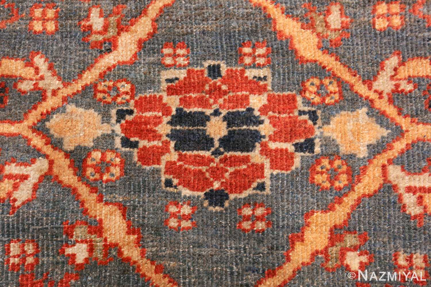 large blue background sultanabad persian rug 49300 red Nazmiyal