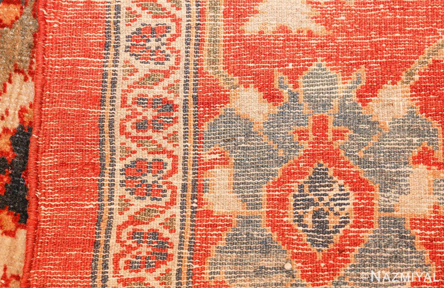 large blue background sultanabad persian rug 49300 weave Nazmiyal