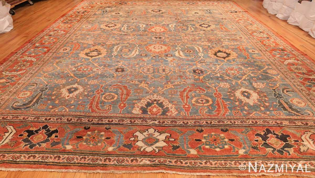 large blue background sultanabad persian rug 49300 whole Nazmiyal
