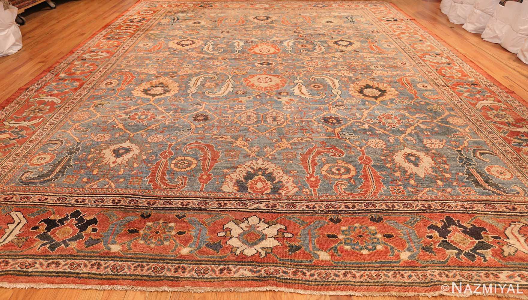 large blue background sultanabad persian rug 49300 whole Nazmiyal