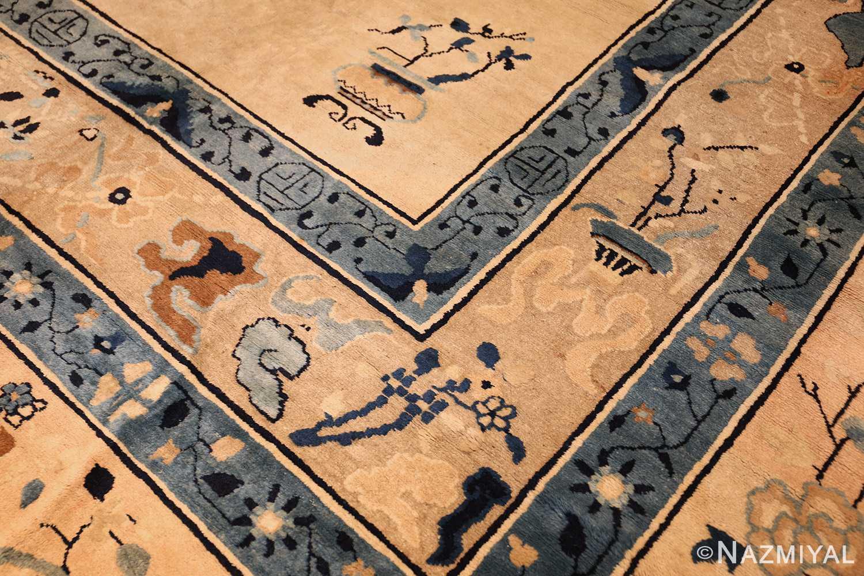 large cream background antique peking chinese rug 49333 design Nazmiyal