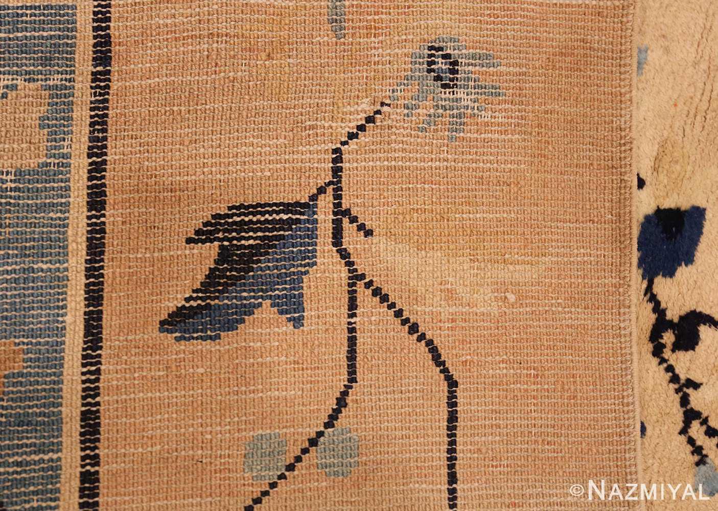 large cream background antique peking chinese rug 49333 weave Nazmiyal
