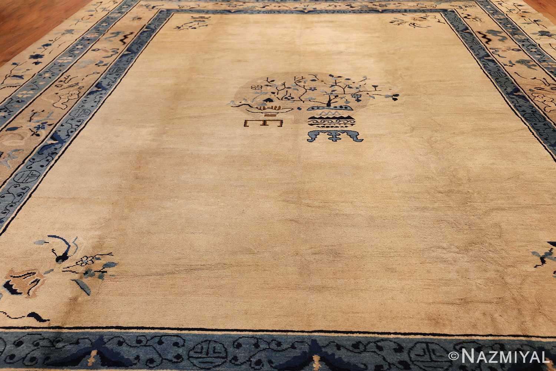 large cream background antique peking chinese rug 49333 whole Nazmiyal