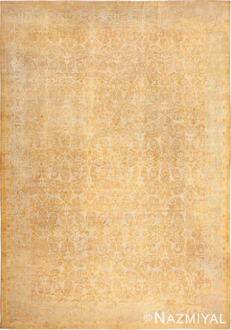 large gold background antique tabriz persian rug 49319 Nazmiyal