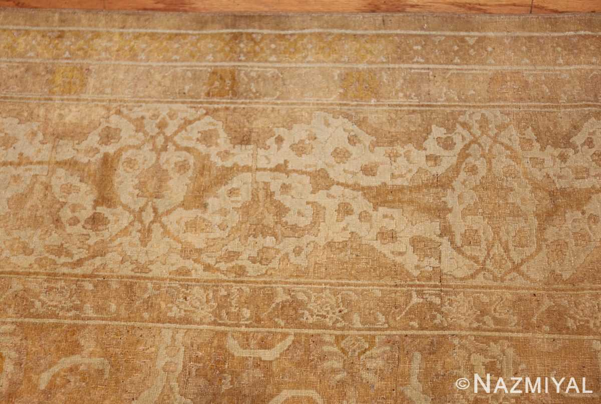 large gold background antique tabriz persian rug 49319 border Nazmiyal