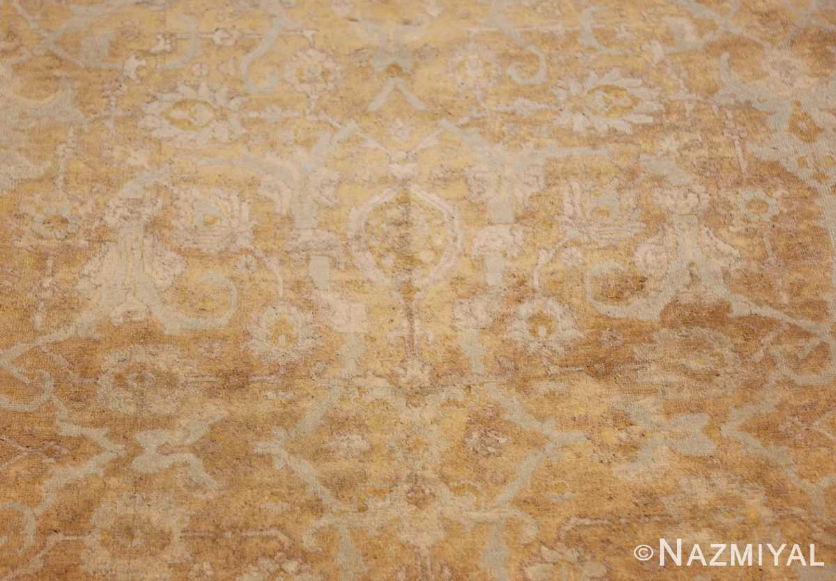 large gold background antique tabriz persian rug 49319 closeup Nazmiyal