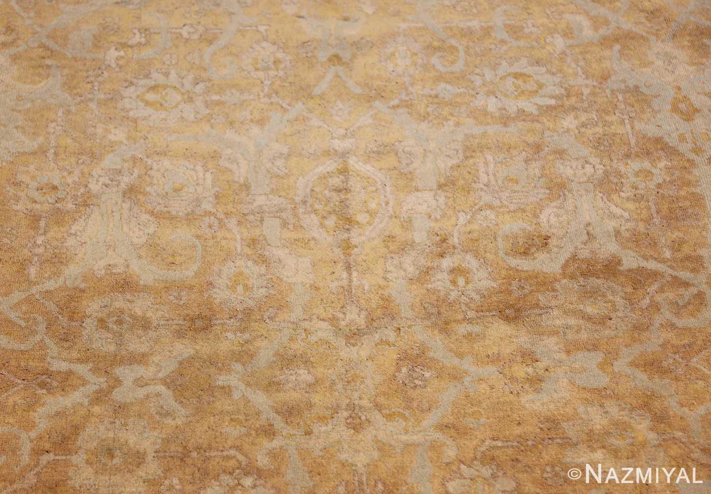 large gold background antique tabriz persian rug 49319 closeup Nazmiyal