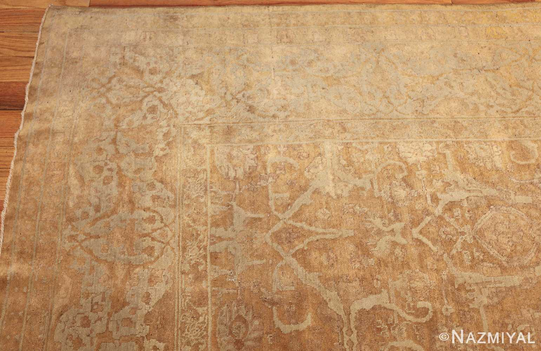 large gold background antique tabriz persian rug 49319 corner Nazmiyal