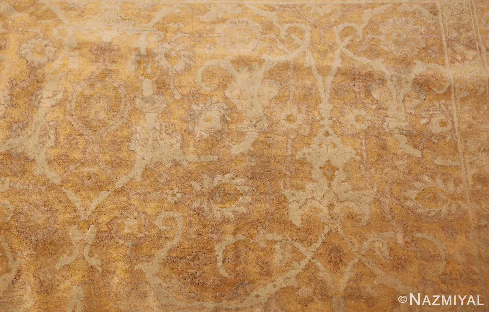 large gold background antique tabriz persian rug 49319 design Nazmiyal Nazmiyal