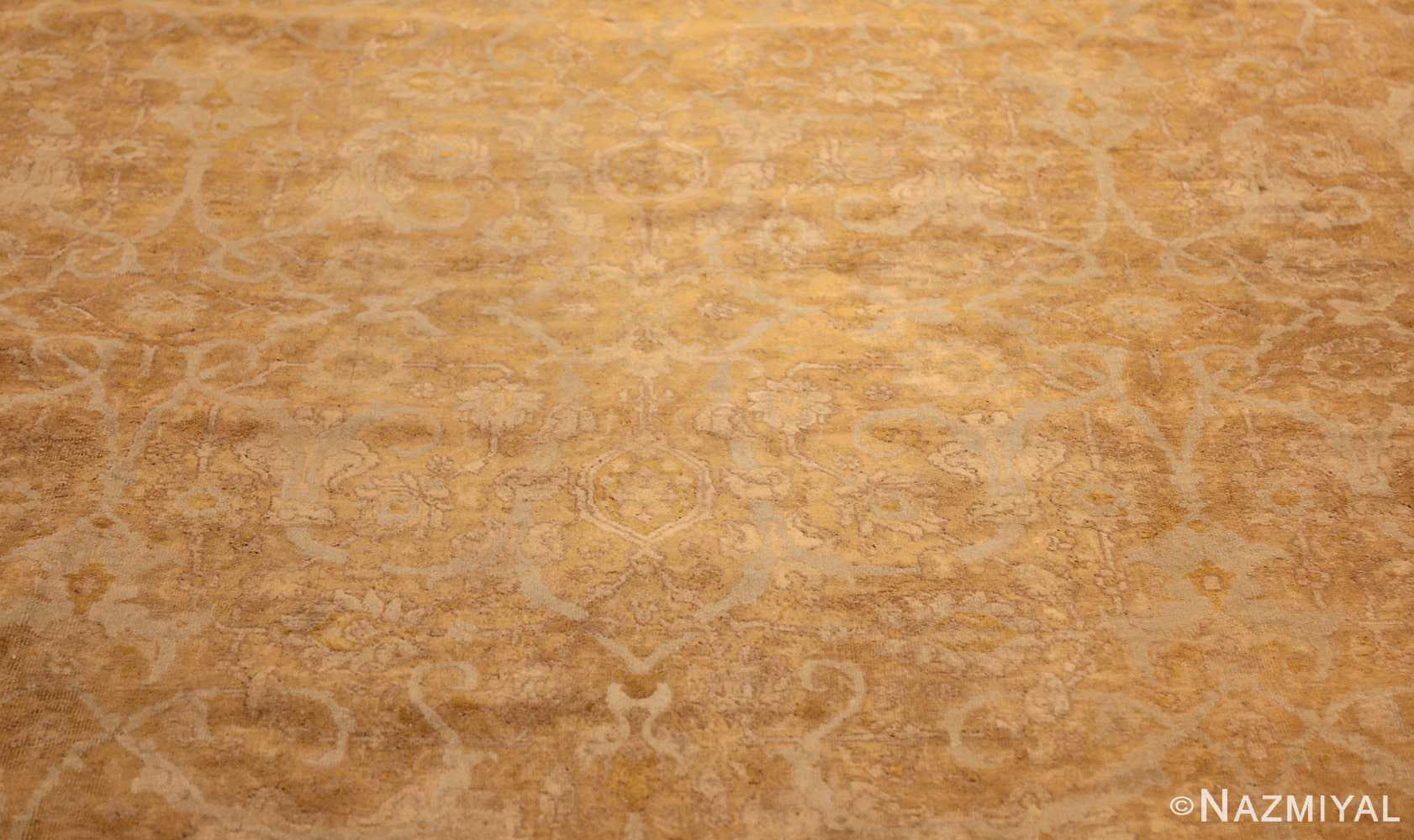 large gold background antique tabriz persian rug 49319 design Nazmiyal