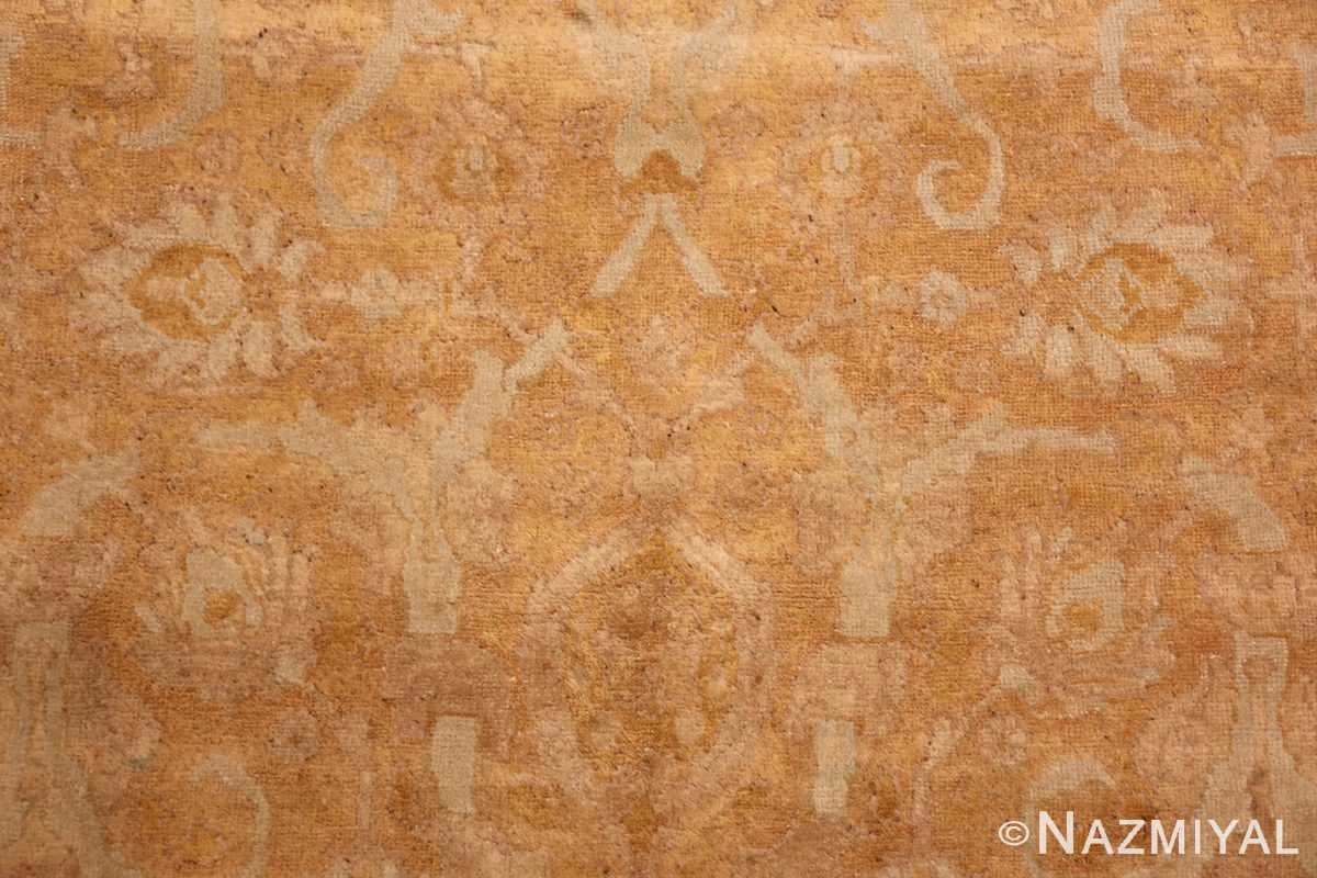 large gold background antique tabriz persian rug 49319 pattern Nazmiyal