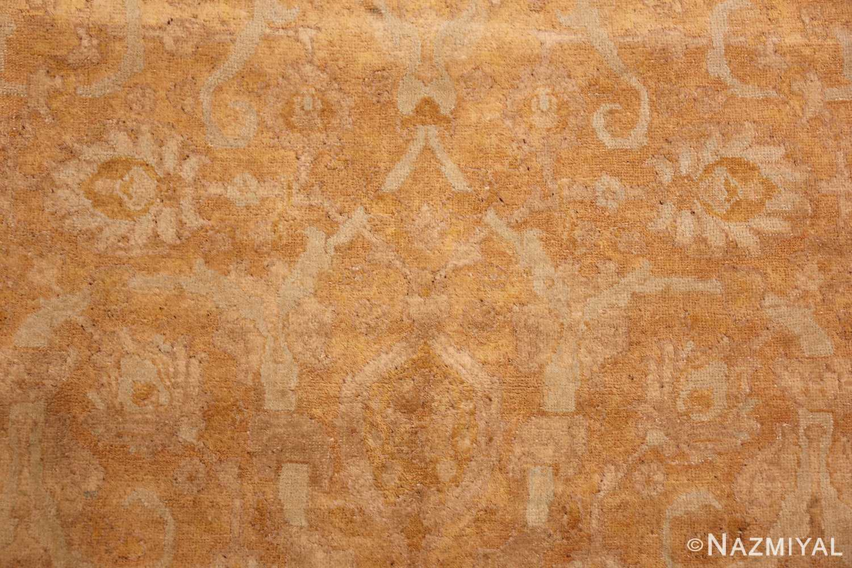 large gold background antique tabriz persian rug 49319 pattern Nazmiyal
