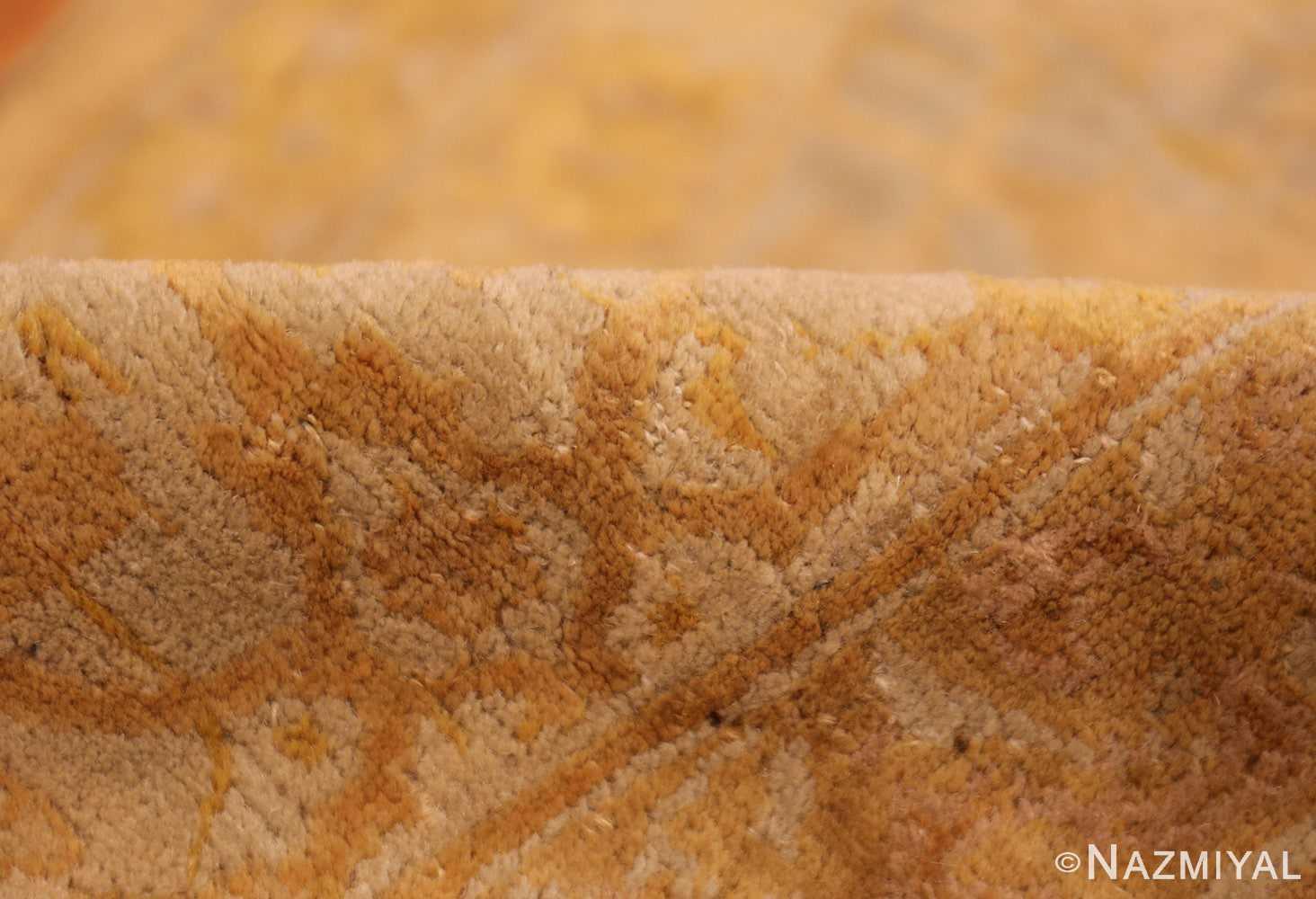 large gold background antique tabriz persian rug 49319 pile Nazmiyal