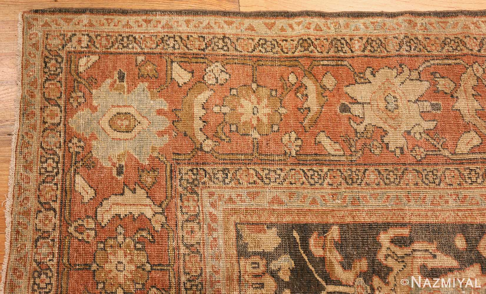 large gray antique sultanabad persian rug 49366 corner Nazmiyal