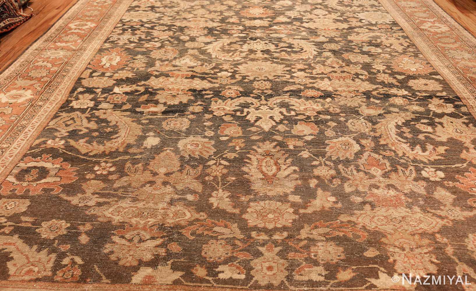 large gray antique sultanabad persian rug 49366 field Nazmiyal