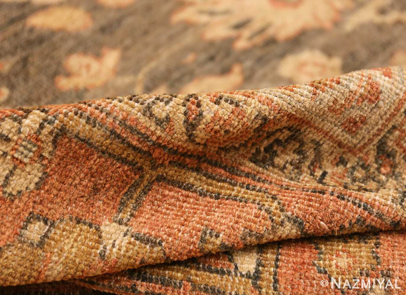 large gray antique sultanabad persian rug 49366 pile Nazmiyal