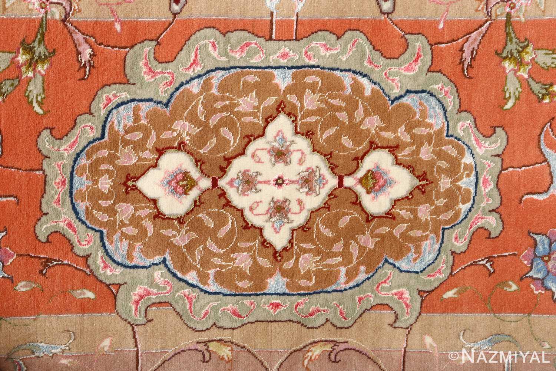 large ivory vintage tabriz persian rug 51143 border Nazmiyal