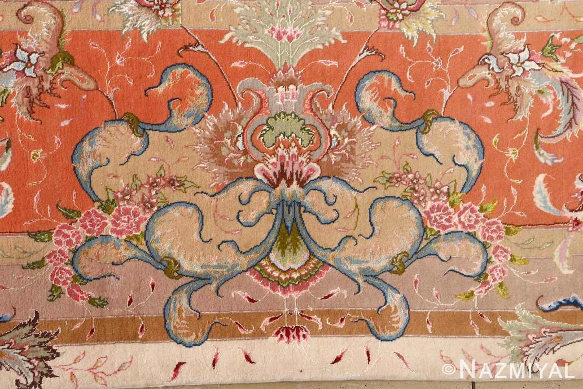 large ivory vintage tabriz persian rug 51143 bouquet Nazmiyal
