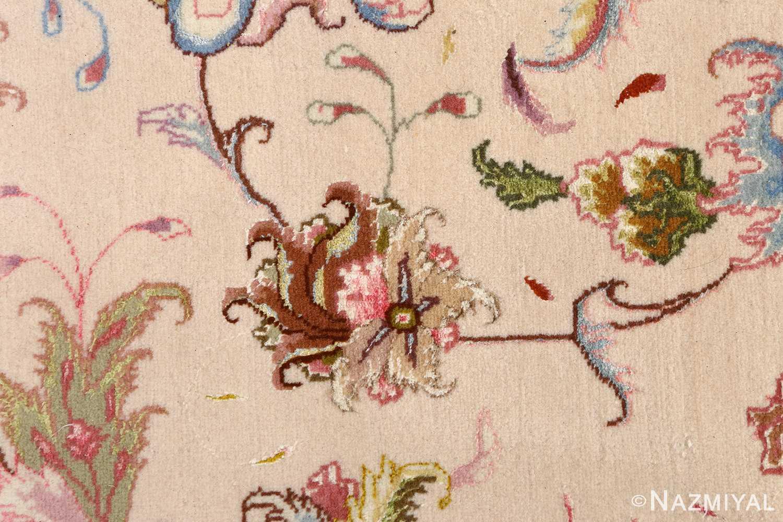 large ivory vintage tabriz persian rug 51143 ivory Nazmiyal