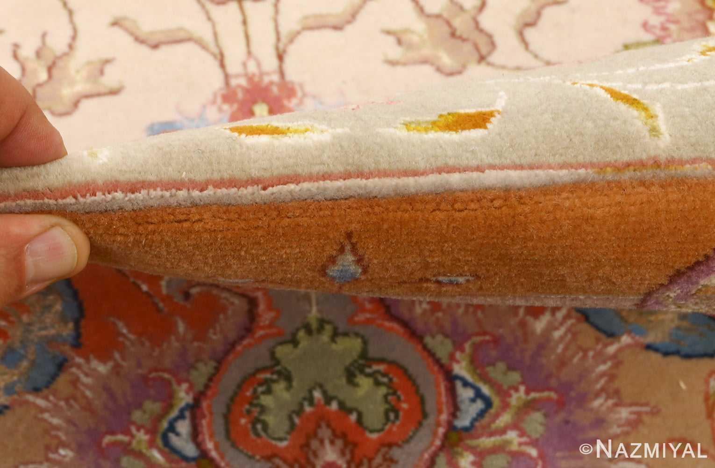 large ivory vintage tabriz persian rug 51143 pile Nazmiyal