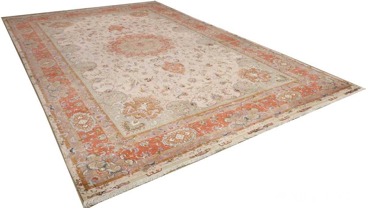 large ivory vintage tabriz persian rug 51143 side Nazmiyal