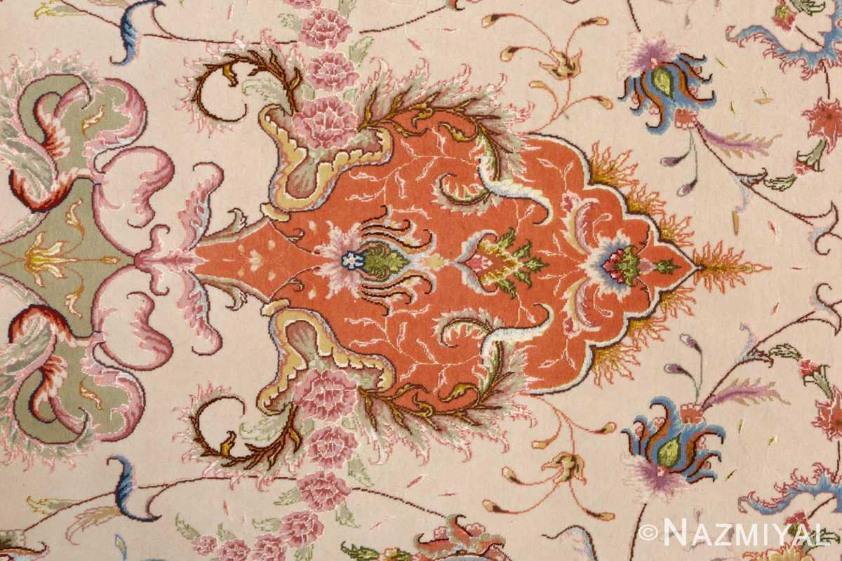 large ivory vintage tabriz persian rug 51143 taira Nazmiyal
