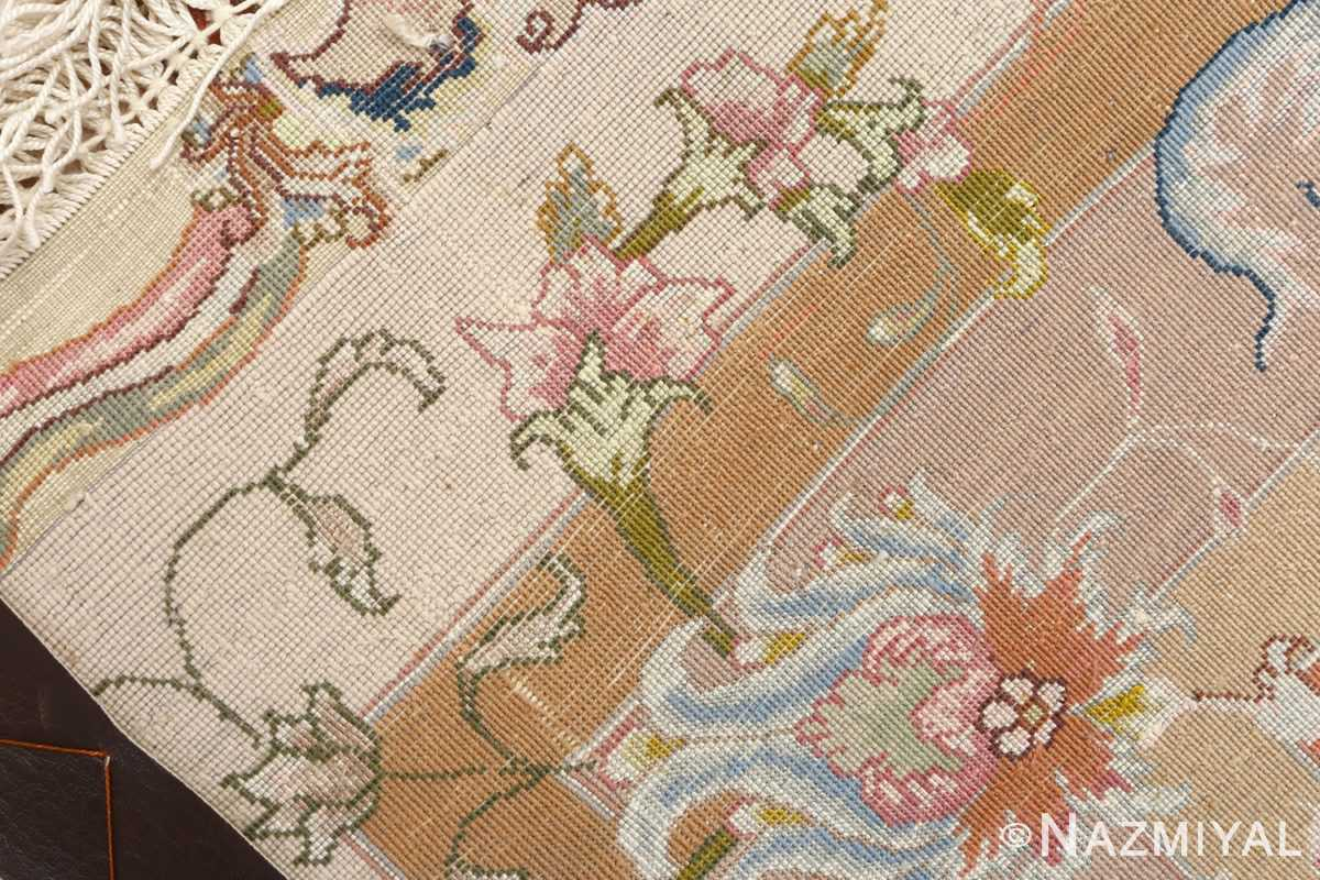 large ivory vintage tabriz persian rug 51143 weave Nazmiyal