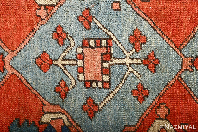 large red antique serapi persian rug 51121 blue Nazmiyal